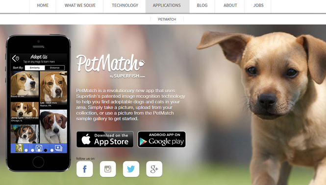 死んだペットに似ている犬・猫を探してくれるアプリ「PetMatch」