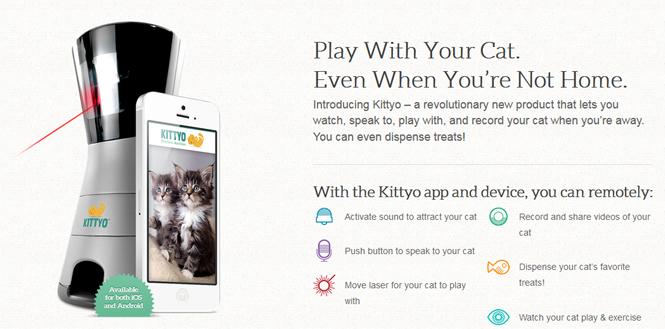 外出先から猫と玉とり遊びができる「Kittyo」