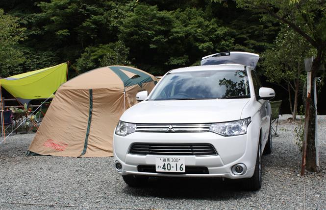 【試乗レポート】三菱アウトランダーPHEVでキャンプに行ってきました