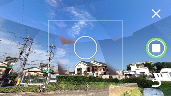 「Photo Sphere Camera」撮影完了