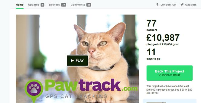 猫専用 首輪型GPSトラッカー「Pawtrack」